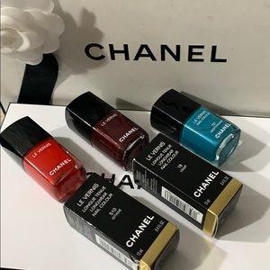 Chanel set of 3 nail polishes
